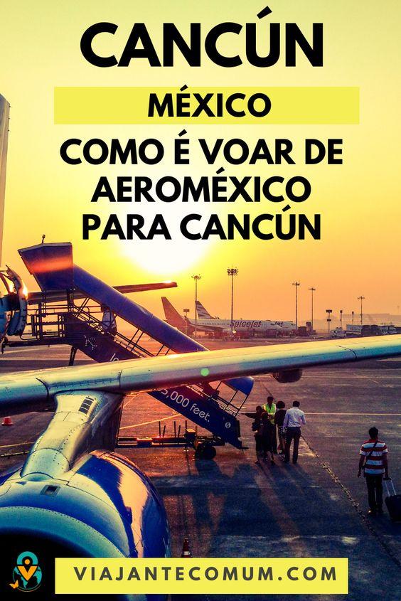 como e voar de aeromexico para cancun