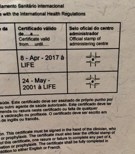 como emitir o certificado da febre amarela