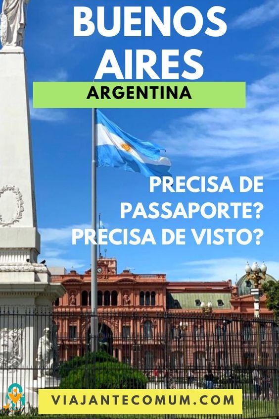 precisa de passaporte para viajar para argentina